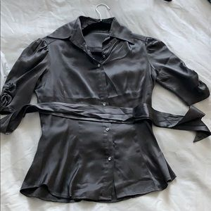 30% off bundles. Bebe blouse with crystal buttons